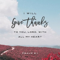 Verse of The Day: Psalm 9:1